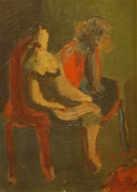 woman in interior by willem de kooning