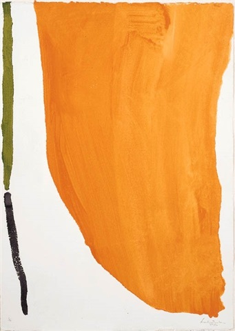 orange downpour by helen frankenthaler
