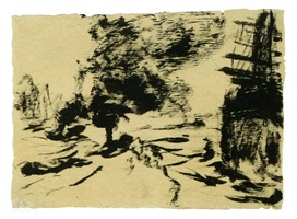 schleppdampfer (steam tugboat) by emil nolde