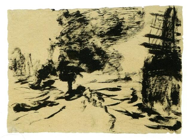 schleppdampfer (steam tugboat) by emil nolde