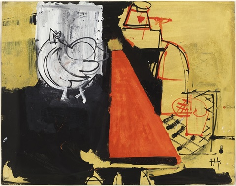 red triangle by hans hofmann