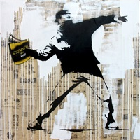 banksy thrower by mr. brainwash
