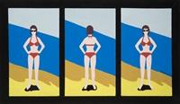 bikini triptych by marjorie virginia strider