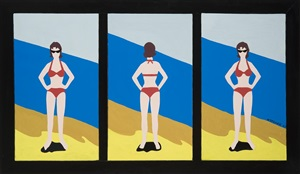 bikini triptych by marjorie virginia strider