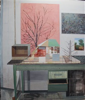 trees in studio by sky glabush