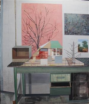 trees in studio by sky glabush