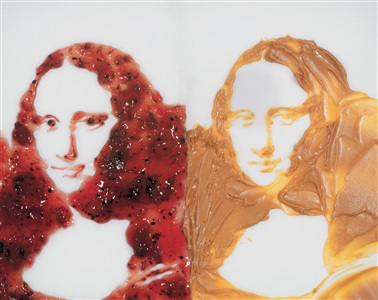 mona lisa smile noto by vik muniz