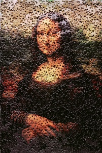 mona lisa, after leonardo da vinci (gordian puzzles) by vik muniz