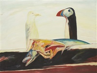 puffin and the fable by john bellany