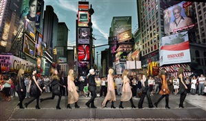 lagerfeld in times square by simon procter