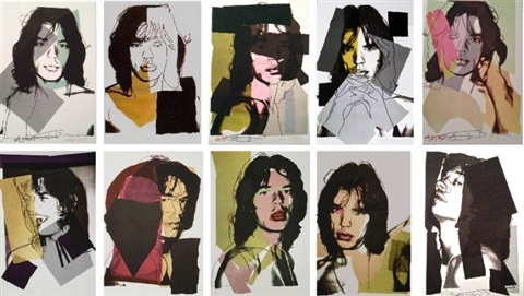 mick jagger (f. & s. 138-147) by andy warhol