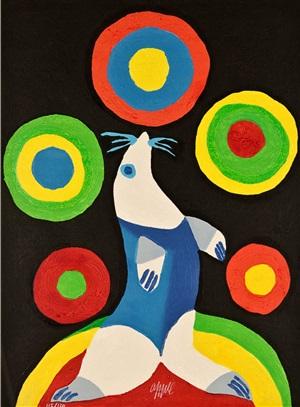 circus: lancer dans l'espace quelques fusées-couleurs by karel appel