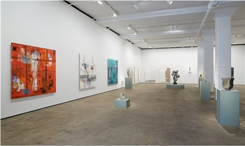 installation view of from pre history to post everything at sean kelly new york