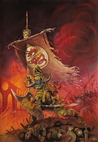 armies of death, paperback cover by chris achilleos