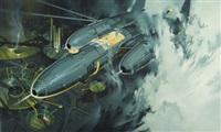 return of count von zeppelin, oui magazine illustration by paul alexander