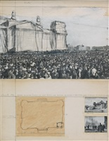 wrapped reichstag (project for west berlin - der deutsche reichstag) by christo and jeanne-claude