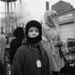 chicago north suburbs boy in winter hat 1969 by vivian maier