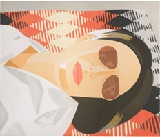 reclining figure / indian blanket by alex katz