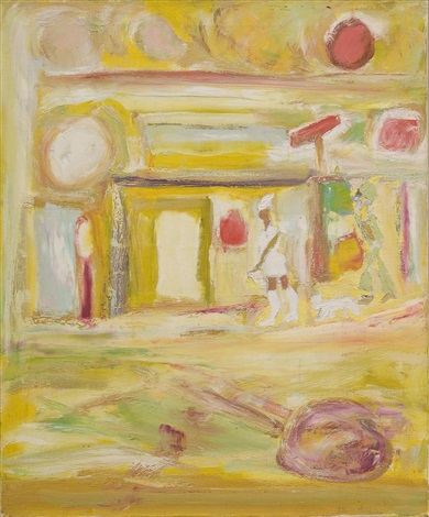 untitled, paris street by beauford delaney
