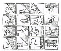 the blueprint drawings n°11 by keith haring