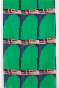 fabric / repeat / green cap by beverly semmes