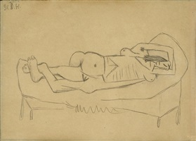 femme nue by pablo picasso