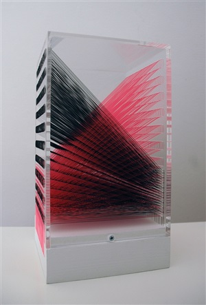 9,772 inches of black and red nylon monofilament by robert currie