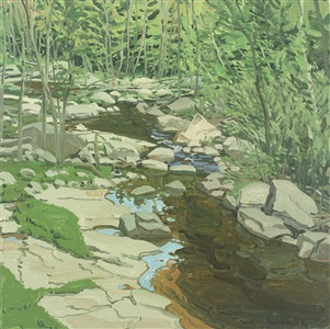 study for spring brook by neil welliver