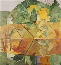 across the pond, blairstown by lois dodd