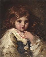 portrait of a little girl by laura adeline muntz