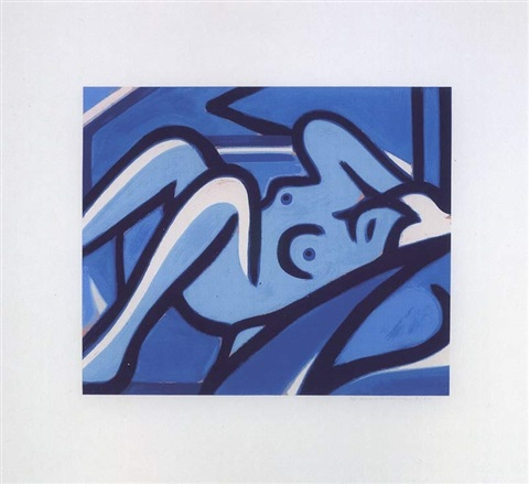blue nude by tom wesselmann