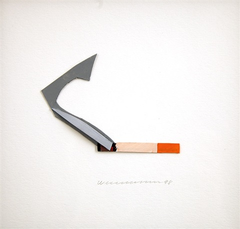 smoking cigarette by tom wesselmann