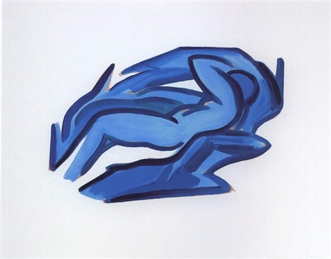 blue nude #4 by tom wesselmann