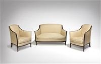 paire de fauteuils et canapé by jean-michel frank