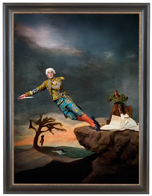 fake death picture (the suicide - leonardo alenza) by yinka shonibare mbe