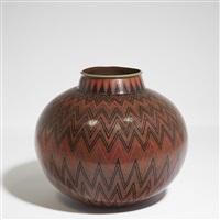 vase sphérique by jean dunand