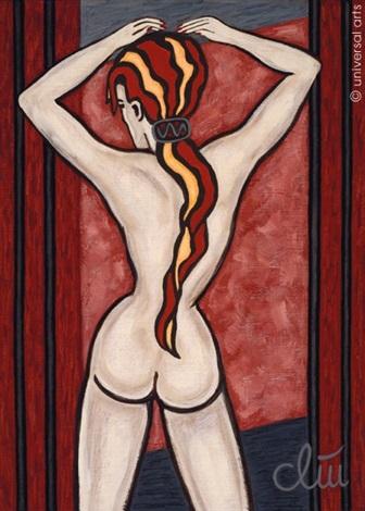 "rückenakt - weiblich"" (female nude - back view) by jacqueline ditt"