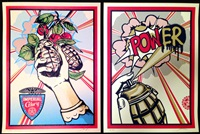 imperial glory/pow(er) (2 works) by shepard fairey