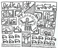 the blueprint drawings, #10 by keith haring