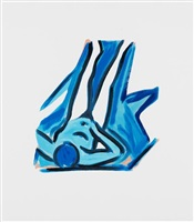 blue nude #2 by tom wesselmann