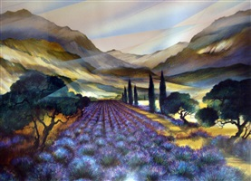 lavender fields by raymond poulet