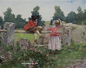 a romantic rendezvous by edouard toudouze