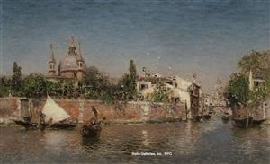 laguna veneta and rio della croce, chiesa del santissimo redentore by martin rico y ortega