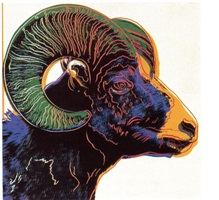 bighorn ram by andy warhol