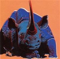 black rhinoceros by andy warhol