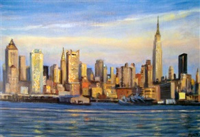 nyc midtown skyline by steve kuzma