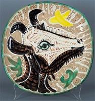 tete de chevre de profil (goat's head in profile) by pablo picasso