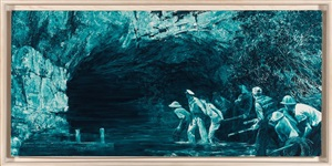 """study for """"myth of depth ii,"""" by mark tansey"""