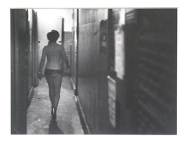 show girl coming off stage by garry winogrand