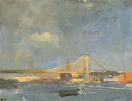 light breaking through after the storm east river by laura adler